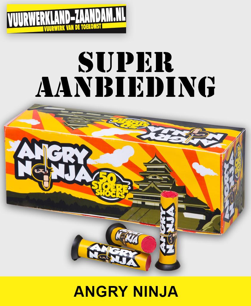 Angry Ninja vuurwerk mortier