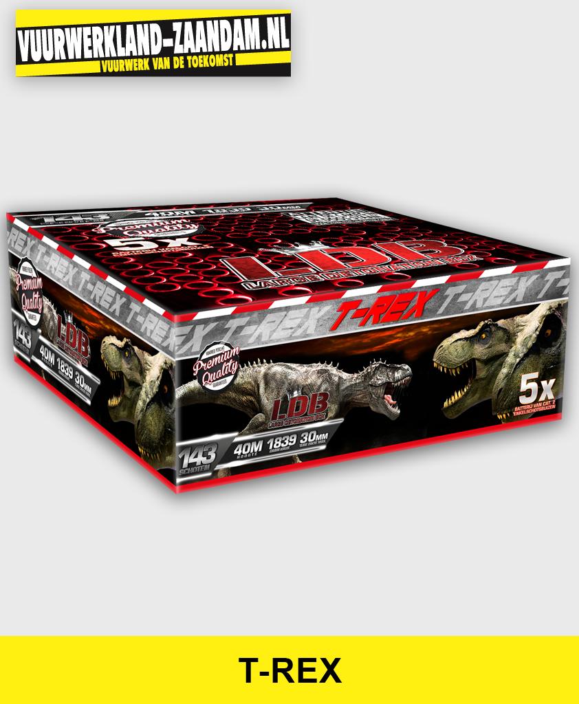 T-Rex vuurwerk cakebox